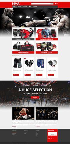 Wrestling Gear & Equipment Online Store #Virtuemart #template. #themes #business #responsive