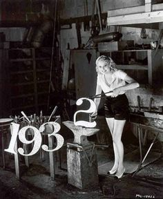 Thelma Todd forges ahead into the new year of 1932.