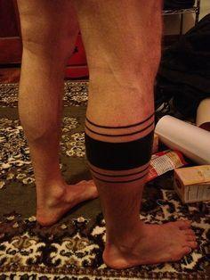 woman leg stripe tattoo - Google Search