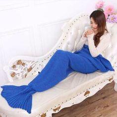 Couch Mermaid Queen Blanket
