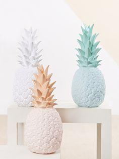 Lampes déco en forme d'ananas - Couleur pastel - idées déco - intérieur - objet fruit - tendances 2015 - Pineapple Lights