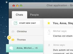 IM Chat Interface Designs for OSX Applications / Design Tickle