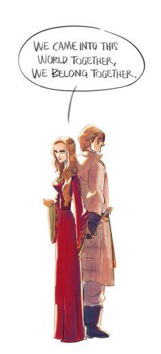 GoT - Cersei & Jaime Lannister by onlyparkland, via tumblr