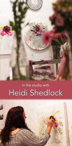Learn more about Heidi Shedlock in this film and interview with the artist in her studio in Durban, South Africa. South African Artists, Painting Process, Online Art Gallery, Interview, Studio, Film, Floral, Flowers, Movie