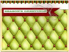 """""""Season's Greetings"""" Card by Susan M. Brown {sbartist} using Unscripted Sketches #188. www.unscriptedsketches.com"""