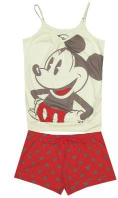 Disney Mickey Mouse Cream & Coral Sleep Set