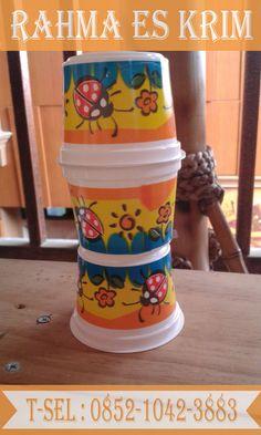 Cup Es Krim Plastik Ukuran 100ml  model plastik