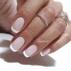 "57 Gorgeous Wedding Nail Designs for Brides, bridal nails nails bride,wedding nails with glitter, nails for wedding guest nails toes The most stunning wedding nail art designs for a real ""wow"" Classy Nails, Stylish Nails, Trendy Nails, Cute Nails, French Manicure Nails, Gel Nails, French Manicure Designs, Work Nails, Wedding Nails Design"