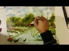 Aslı Erdem Suluboya Peyzaj Çalışması (watercolor speed painting)