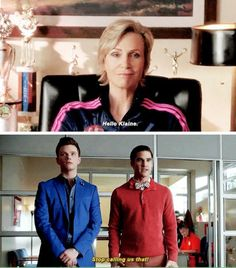 "The fandom: ""Shut up, Blaine."""
