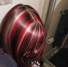 Hair Inspo, Hair Inspiration, Hair Color Streaks, Emo Hair Color, Hair Dye Colors, Hair Reference, Dye My Hair, Aesthetic Hair, Grunge Hair