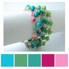 Paleta de colores de nuestras pulseras de oro laminado en diferentes colores