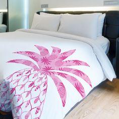 One Bella Casa Pleasant Pineapple Fleece Duvet Cover Size: King My New Room, My Room, Girl Room, Duvet Cover Sizes, Duvet Covers, Pineapple Room, Dream Bedroom, Bedding Sets, Bedroom Decor