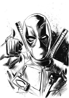 You are watching the movie Deadpool 2 on Putlocker HD. Wisecracking mercenary Deadpool battles the evil and powerful Cable and other bad guys to save a boy's life. Marvel Art, Marvel Dc Comics, Marvel Heroes, Marvel Avengers, Deadpool Tattoo, Deadpool Art, Deadpool Wallpaper, Drawing Sketches, Pencil Drawings