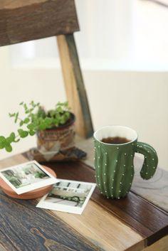 cafè, taza cactusss