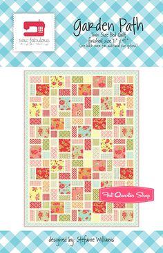 Garden Path Downloadable PDF Quilt Pattern Oh Sew Fabulous Quilts by Stefanie Williams - Fat Quarter Shop