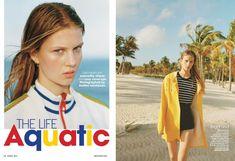 The Life Aquatic (Teen Vogue) Cozy Cover, Cover Up, Life Aquatic, Teen Vogue, Fashion Beauty, Stripes, Beautiful, Miami, Editorial