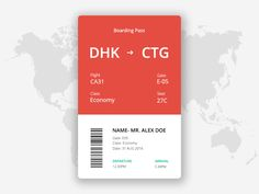 DailyUI #024 - Boarding Pass