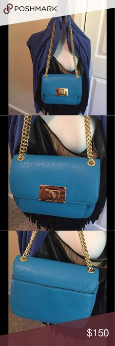 MK Small Leather Cross Body Sloan NWT Summer blue authentic Michael Kors Gorgeous brand new with tags Michael Kors Bags Crossbody Bags