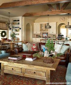 Декор дома в Арканзасе: новогодний интерьер в стиле рустик