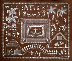 Ancient Indian Folk Art Tradition of Warli 1 Ancient Indian Art, Indian Folk Art, Ancient Art, Phad Painting, Worli Painting, Traditional Paintings, Traditional Art, Mural Art, Wall Art
