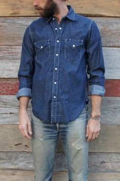Engineered Garments Indigo Denim Western Shirt