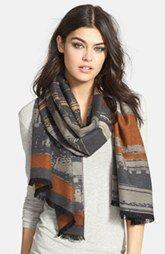Chelsey Faded Stripe Silk Wrap