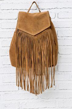 mochila ante flecos, marrón, hi-res 29€ springfield