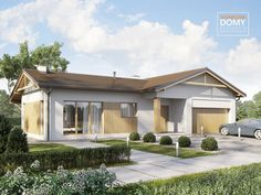Projekt Ponza | Słoneczne Domy House Blueprints, Small House Plans, Pergola, Outdoor Structures, How To Plan, Houses, Outdoor Decor, Extension, Recipies