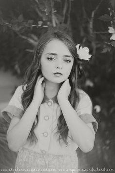 Stephanie Sunderland Photography. Utah children portraiture. Vintage style children shoots. Vintage Hair do. Natural makeup.