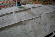 Elmer's Gel Glue Batik Aprons