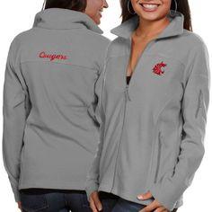 Washington State Cougars Columbia Women's Give & Go Full-Zip Jacket - Gray