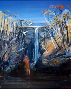 Australian artist Arthur Boyd Australian Painting, Australian Artists, Landscape Artwork, Abstract Landscape, Arthur Boyd, Paintings I Love, Ink Paintings, Impressionist Landscape, Traditional Landscape