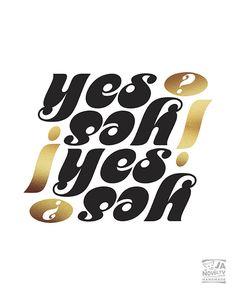 YES print Yes sign Yes Typography Printable Yes by JAnoveltyDeSign