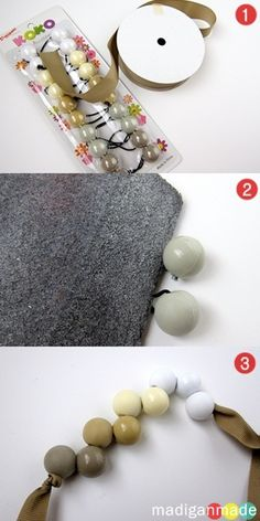 DIY Necklace from Ponytail Holders...you know those ones with those little balls? How cute, fun, and CHEAP!