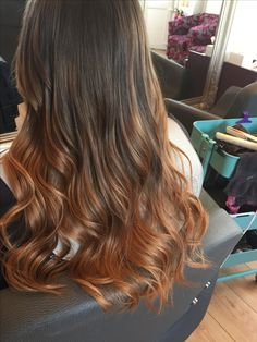 Wella freelights and illumina autumn ombré hair