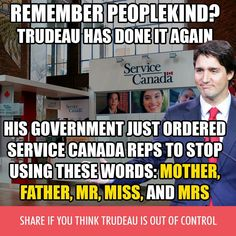 """"""" When will Trudeau come out of his closet and admit that he has inclinations for something that may well be acceptable but also atypical? His attempt to mold Canadian culture into something he personally finds more welcoming is wrong"""" Political Correctness Gone Mad, Political Memes, Words For Stupid, Trudeau Canada, Service Canada, The Twits, Canadian Culture, Justin Trudeau, Thinking Of You"""