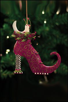 Krinkles by Patience Brewster - Doves in Boot Tin Ornament