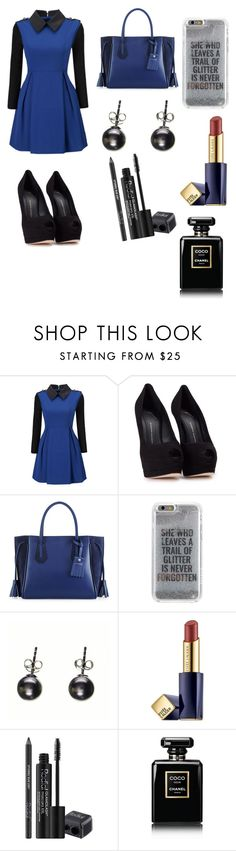"""""""School Presentation Outfit"""" by mamaniruth ❤ liked on Polyvore featuring WithChic, Giuseppe Zanotti, Longchamp, Agent 18, Black, Estée Lauder, Rodial and Chanel"""