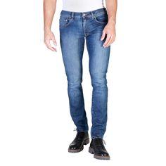 ... vêtements - Jeans pour homme coupe étroite- Tissu stretch Spintech 100%  coton sur la peau. Taille basse, jambe sèche - Étiquette sur la ceinture  arrière ... 88c8b045d48