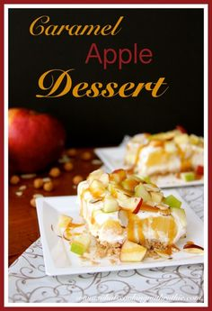 Caramel Apple Dessert is a skinny treat that tastes amazing!  You won't miss a single calorie!!  by whatscookingwithruthie.com #recipes #desserts #apples