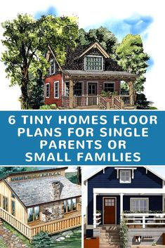 6 tiny homes floor plans for single parents or small families - Do you think tiny living is out of the question when kids are involved? Tiny Home Inspiration | Tiny Homes for Families | Tiny Homes of Multiple People