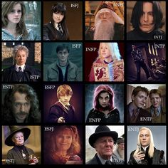 Harry Potter Myers-Briggs types.