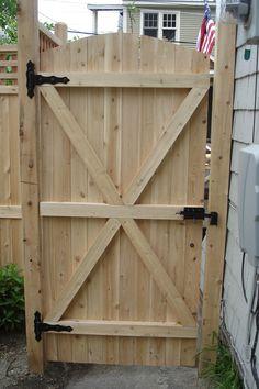 backyard wood gates google search