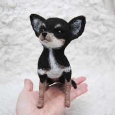 chihuahua  needle felted by willane