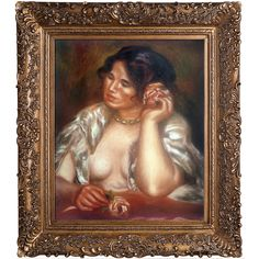 Gabrielle with a Rose, 1911 by Renoir Framed Painting Print on Canvas