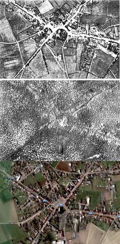 Passchendael, Belgium (1917): Before WWI, After, and Today. Of all the pictures of World War I the aerial photographs of before and after scenes show the destruction of the Western Front most graphically