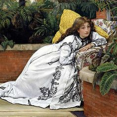 A Girl in an Armchair (The Convalescent), 1872 - James Jacques Joseph Tissot