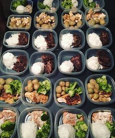 Four days of prep are complete for @_aj_fitness_! This power couple has chicken beef salmon broccoli potatoes and rice! - Prep together and save even more time and money! Download @mealplanmagic customized plans for 2 that generate combined grocery lists! - ALL-IN-ONE TOOL & GUIDES - Build Custom Plans & Set Nutrition Goals BMR BMI & Max Rate Calculator Get Your Macros by Body Type & Goal Grocery Lists Automated to Weekly Needs Accurate Cooking and Prep Summaries Combine & Export Data for…
