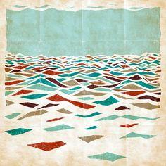"Sea Recollection, Efi Tolia. Love the canvas ""folds""."
